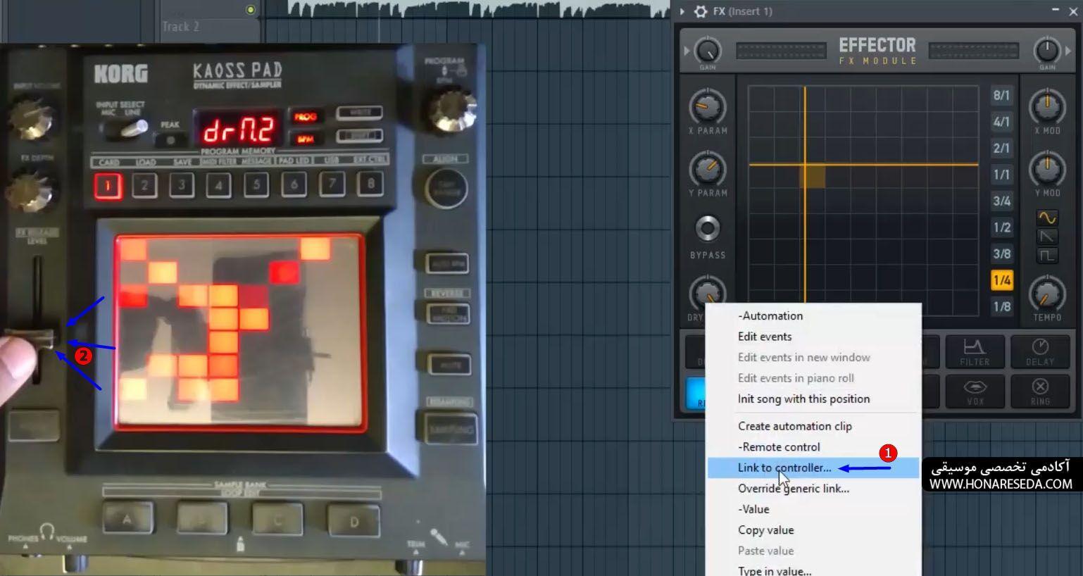 نحوه استفاده از افکتور کرگ در fl studio 10